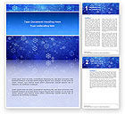 Holiday/Special Occasion: Snowflakes Word Template #02846
