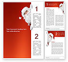 Holiday/Special Occasion: Santa Around the Corner Word Template #02849