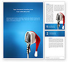 Art & Entertainment: Christmas Songs Word Template #02853