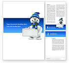 Holiday/Special Occasion: Smiling Snowman Word Template #02857