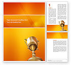 Business Concepts: Award Word Template #02858