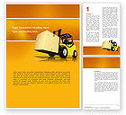 Cars/Transportation: Yellow Loader Word Template #02863