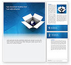 Global: Modèle Word de globe dans la boîte #02864