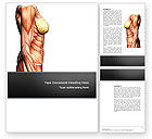 Medical: Female Anatomy Muscular Corset Word Template #02872