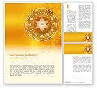 Religious/Spiritual: Zodiac Word Template #02874