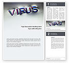 Medical: Modèle Word de signe de virus #02875