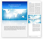 Global: Templat Word Peta Dunia #02881