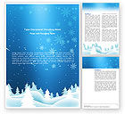 Holiday/Special Occasion: Forest Snow Word Template #02888