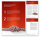 Consulting: Knot On The Red Background Word Template #02896