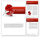 Financial/Accounting: Dollar Rising Word Template #02902