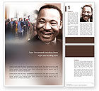 Holiday/Special Occasion: Martin Luther Word Template #02908