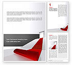 Careers/Industry: Red Carpet Word Template #02912