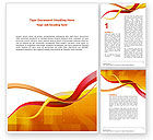 Abstract/Textures: Yellow Waves Word Template #02914