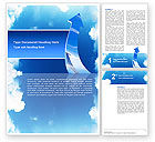 Business Concepts: Going Up Word Template #02916