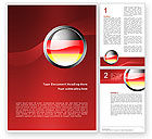 Flags/International: Germany Sign Word Template #02920