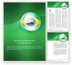 Flags/International: Brazil Sign Word Template #02926