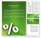 Financial/Accounting: Procentteken Word Template #02957