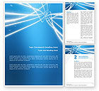Abstract/Textures: Blue Lines Word Template #02991