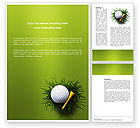 Sports: Golf Ball In The Nest Word Template #03010