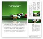 Business Concepts: Cubic Billiard Balls Word Template #03036