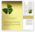 Nature & Environment: Shamrock Word Template #03052