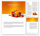 Construction: Color Bricks Word Template #03056