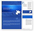 Business Concepts: Blue Jigsaw Word Template #03070