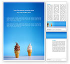 Food & Beverage: Chocolate And Vanilla Ice Cream Word Template #03076