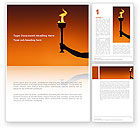 Sports: Olympic Torch Word Template #03087