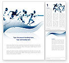 Sports: Runner Word Template #03096