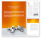 Business Concepts: Steel Puzzle Word Template #03097