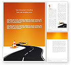 Cars/Transportation: Road Work Word Template #03104