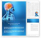 Medical: Brain In Skull Word Template #03110