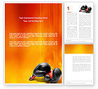 Sports: Boxing Gloves Word Template #03113