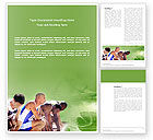 Sports: Sprinters At The Start Line Word Template #03117