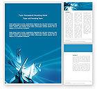 3D: Futuristic Blue Word Template #03118