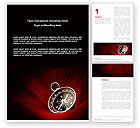 Business Concepts: Compass In A Dark Red Velvet Word Template #03130