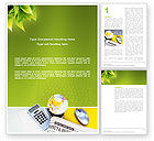 Financial/Accounting: Bedrijfsleven Krant Word Template #03134