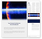 Nature & Environment: Planetoid Rings Word Template #03144