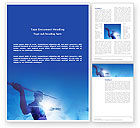 Sports: Javelin Throwing Word Template #03157