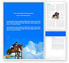 Sports: Steeplechase Word Template #03162