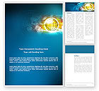 Telecommunication: World Online Word Template #03166