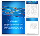 Sports: Swimming Competition Word Template #03168