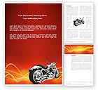 Cars/Transportation: Plantilla de Word - bicicleta #03188