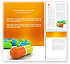 Medical: Colored Pills Word Template #03191