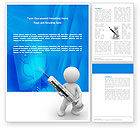 Medical: Stickman With Syringe Word Template #03199