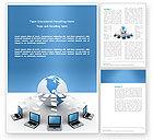 Technology, Science & Computers: 워드 템플릿 - 데이터 전송 #03211