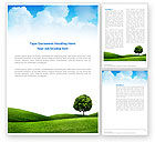 Nature & Environment: Meadow Word Template #03213