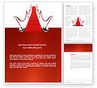 Careers/Industry: Red Carpet Path Word Template #03221