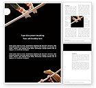 Sports: Sport Gymnastics Word Template #03225